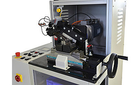 Testing machine for bending back and forth tests