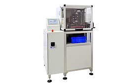 Wire testing machine for tests according to DIN 51211 and ISO 7801